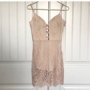 Bebe lace plunge dress romper